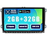 AWESAFE Android 10.0 [2GB+32GB] 9 Pulgadas Radio Coche con Pantalla Táctil para VW, Autoradio para VW con WiFi/GPS/Bluetooth/RDS/USB/FM Am, Admite Mandos del Volante y Aparcamiento