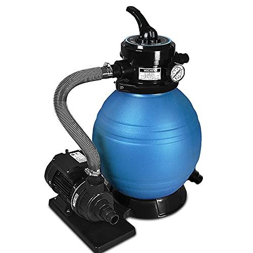 Monzana Sandfilteranlage 10.200 l/h 25 Liter Tank 4 Wege Ventil inkl. 25kg Filterglas Sandfilter Filteranlage Filter