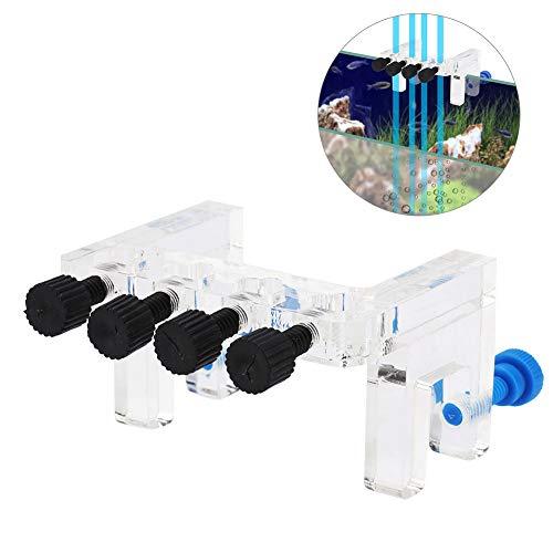 Pssopp Acryl Aquarium Soft Tube Fixture Halter Aquarium Wasserpfeife Clip Wasser Tube Clamp für Holding Dosierpumpe weichen Schlauch