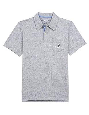 Nautica Big Boys' Short Sleeve Solid Deck Polo Shirt, oahu Dark Coral, Small (8)
