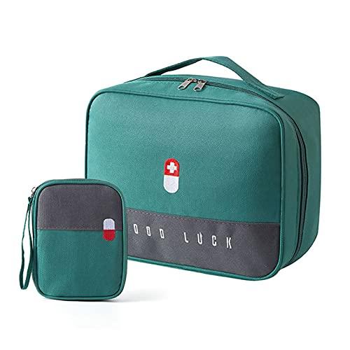 Bolsa de emergencia médica de gran capacidad, Joy Cabin 2 piezas bolsa portátil de almacenamiento de medicina kit de primeros auxilios,caja médica compacta para el hogar,oficina,viajes,coche,camping