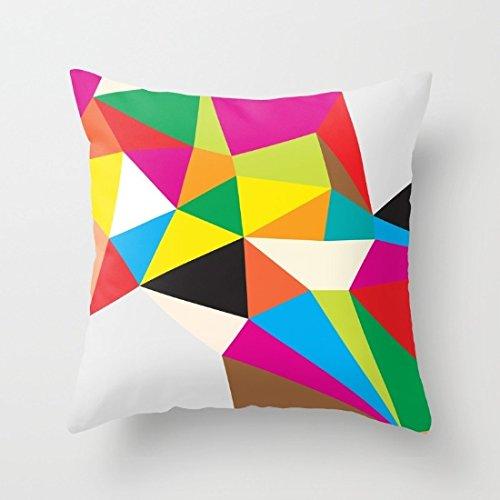 poppylife colorido patrón cuadrado manta fundas de almohada