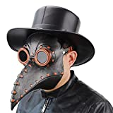 NECHARI Plague Doctor Crow Mask, Steampunk Long Nose Bird Beak Mask for Halloween Costumes Cosplay Party (Style-01)