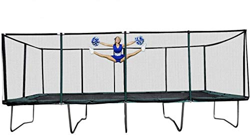 Galactic Xtreme Gymnastic Commercial Grade Trampoline 13 x 23 FT Rectangle, 550lbs User Weight,, 172 Springs (13 X 23 Ft, 13X23 Rectangle)
