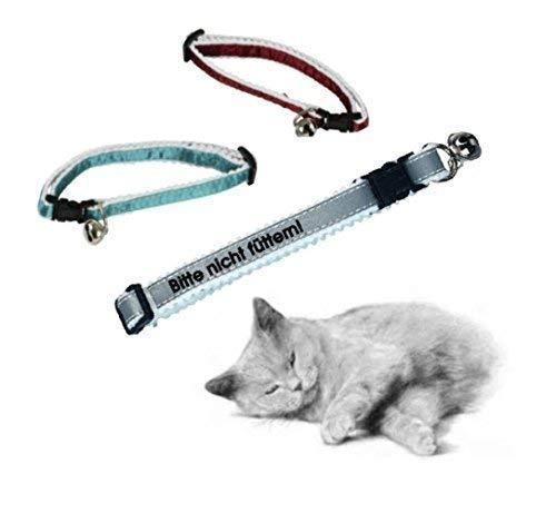 Personalisiertes Katzenhalsband in 3 verschiedenen Farben, mit Ihrem Wunsch - Text z.B.