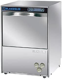 Blakeslee UC-18 Stainless Steel Commercial Restaurant Undercounter High Temperature Glass Washer and Dishwasher with