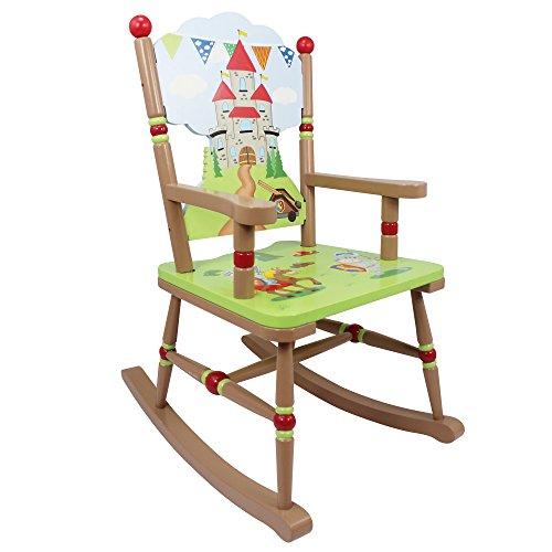 Fantasy Fields by Teamson Ritter und Drachen Rocking Chair, Holz, Grün, 57.79 x 41.91 x 77.47 cm