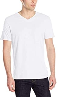 Men's V-Neck T-Shirt | Short Sleeve, Casual, Soft Breathable Cotton, Tagless Undershirt | Regular Fit, Big and Tall