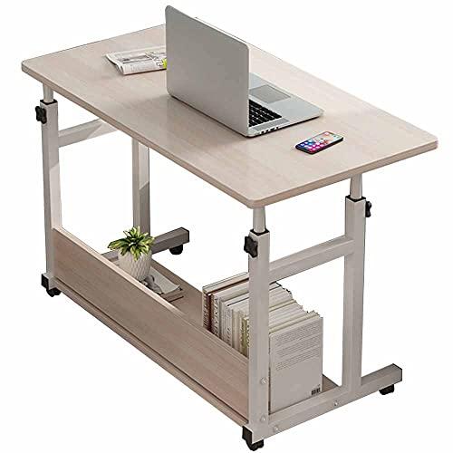 LJFYXZ Escritorio para Ordenador portátil Mesa Auxiliar portátil para sofá Cama Mesa para portátil 60/80 * 40cm (Size:60x40cm,Color:Color de la veta de la Madera)