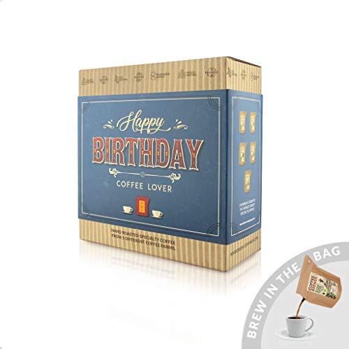 Geburtstags Kaffee Geschenk Box, 5 Stk Coffeebrewer mit Spezialitäten-Kaffee   ideale Geschenkidee für Kaffee-Liebhaber   5 verschiedenen Kaffeesorten aus aller Welt