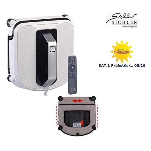 Sichler Haushaltsgeräte Fensterputzautomat: Profi-Fensterputz-Roboter mit Vibrationsreinigung und Fernbedienung (Fenstersauger)