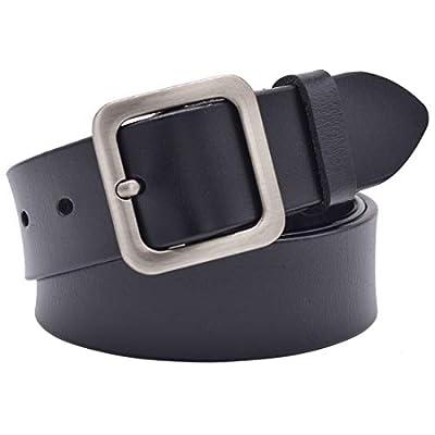 Women leather Belt, Lehosek Leather Waist Belts for Jeans, Alloy Buckle Belt for Dresses