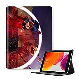 BSHDUFN Miraculous Ladybug for iPad Recto Verso Imprimé Housse de Protection Mince Coque de Protection légère Flip (Color : A03, Size : Ipad 9.7-inch(ModelA1954))