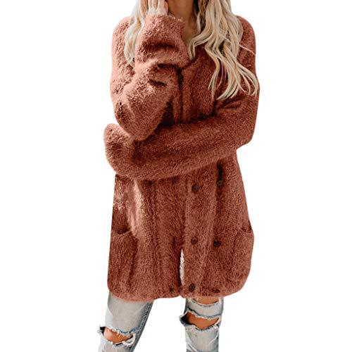 🍒 Spring Color 🍒 Women's Cardigan Solid Sleeveless Faux Fur Vest Coat Fluffy Fleece Open Front Asymmetrical Lady Jacket Orange