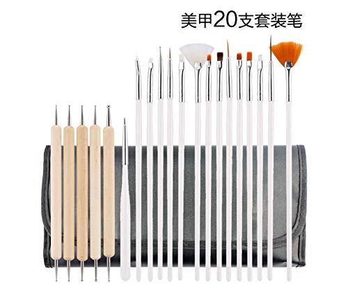 BEKUTY Kit Vernis Semi Permanent Kit Manucure Hot 20Pcs / Set Mode Bricolage Nail Art Pen Brush Set Nail Art éQuipement Manucure Trop