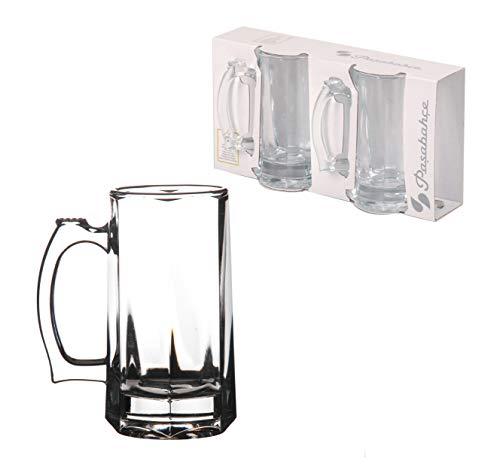 Juego de 2 tazas de cerveza alemanas de 355 ml, de cristal clásico tradicional para tabernas de cerveza, copas de cerveza, cerveza, fiesta, pub, bar, cristal, transparente