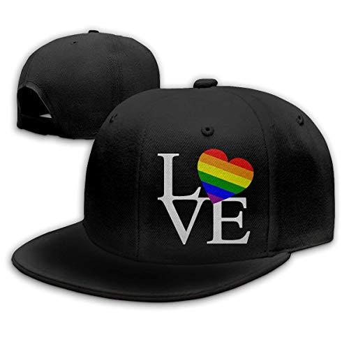 OOworld Cappelli Hip Hop per Cappellino da Baseball Pianura Regolabile Unisex Gay Pride