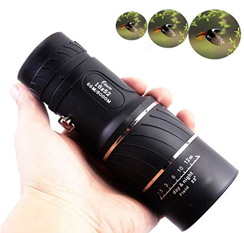 Read About LFFCC 16x52 HD Optical Monocular Telescope,Outdoor Portable Dual Focus Optics Zoom Lens M...