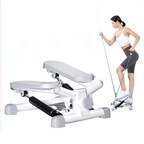 ZLXLX Indoor Sports Equipment Stepper, Fitness Pedaal Fitness Thuis Fitness Trappen voor Mannen en Vrouwen, Mini Ladder Fitness Cardio Training, In hoogte verstelbare roterende Machine, Ladder Oefening Equipment,Wit