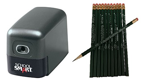 Heavy Duty Electric Pencil Sharpener with 12-Pack TeachingMart Pencils
