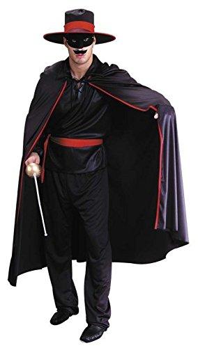 Foxxeo Kostüm Bandit Banditenkostüm Rächer für Herren Herrenkostüm Reiter Größe M-L