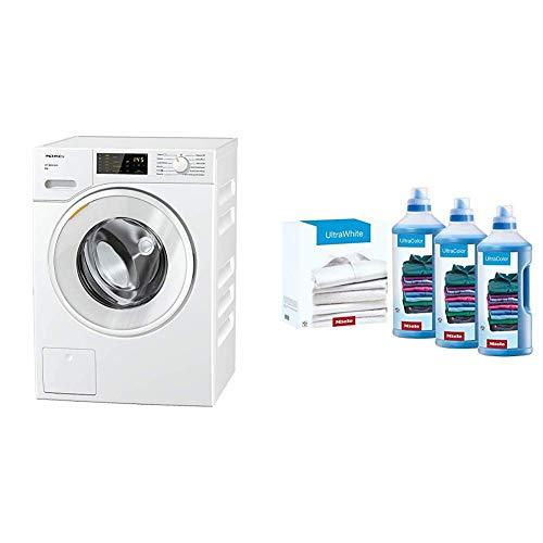 Miele Lavatrice Standard, A+++ -10%, 50 dB, 1400 rpm, Carico Frontale, 8 kg, Bianco + Set Ultracolor & Ultrawhite - 6000 Ml