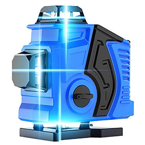 SXTYRL Nivel láser, Azul Línea, Línea De Rayo láser, Horizontales Verticales Multifuncional, Láseres, Interior Montaje Pared, Recargable, Batería (Color : Blue)
