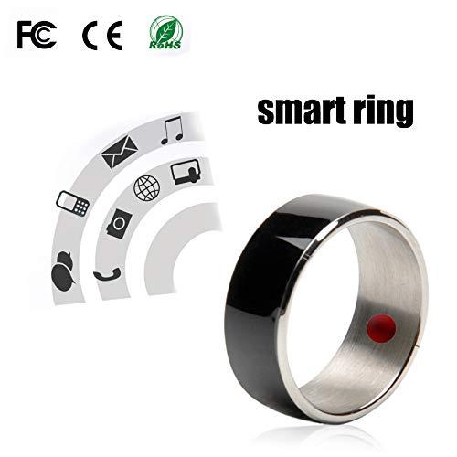 PURROMM Smart NFC Finger Ring, Door Access Administre Dispositivos y Aplicaciones Android Premium Titanium Steel Smart Ring para Hombres y Mujeres Tarjeta de autobús Pago rápido,Black,8
