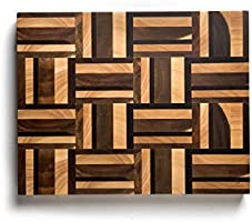 Befano Thick Mosaic Pattern Splicing Lattice Chopping Board with Invisible Handle for Kitchen, Chopping Board for...