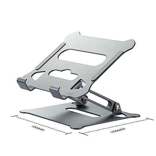 jwj Soporte de aluminio para ordenador portátil Soporte de escritorio para portátil Huawei Tablet Base Accesorios nottable soporte para portátil (color gris para tableta)