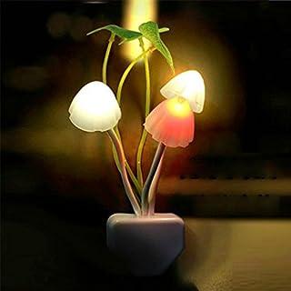 Sherry LED ナイト ライト きのこランプ 明暗センサー付き ホームイルミネーション ベッドライト