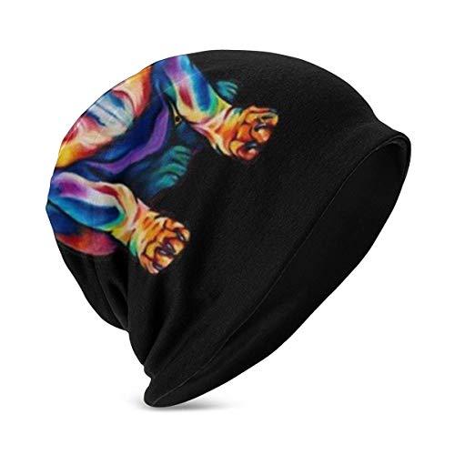 Lawenp Sombreros de Gorrita Tejida para nios, Pintura de Diamantes para Perros, Sombrero de Calavera Suave Grueso Grueso clido de Moda, Negro