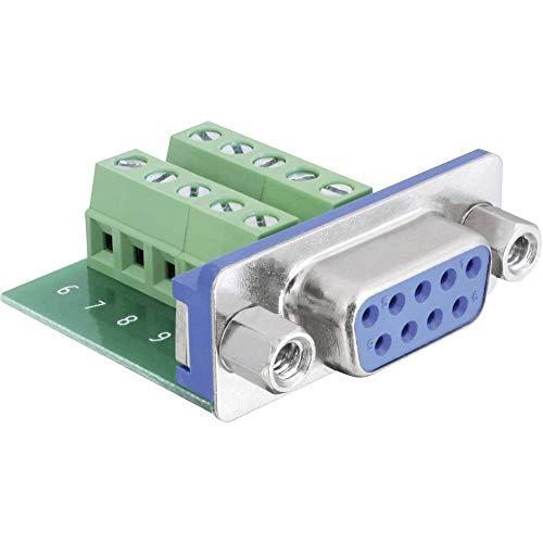 DeLock Adapter Sub-D 9-polig Buchse zu Terminalblock 10-Polig