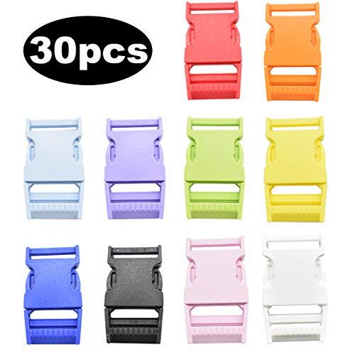 Hebillas de Plastico,Zuzer 30PCS 25mm Hebillas Hebillas de Liberación Rapida Hebilla Mochila Hebillas de Clip