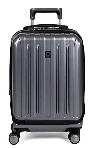 DELSEY Paris Luggage International Carry-on Front Pocket Hard Case Spinner Suitcase, Graphite, 19 inch