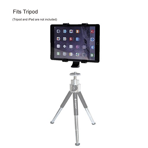 Vastar iPad Tripod Mount Universal Tablet Tripod Holder Adapter for iPad, iPad Air 2,iPad Mini,Samsung Galaxy Tab,Tab Pro,Tab S, Microsoft Surface,Google Nexus,Selfie Stick,Monopod,ipad Pro 10.5