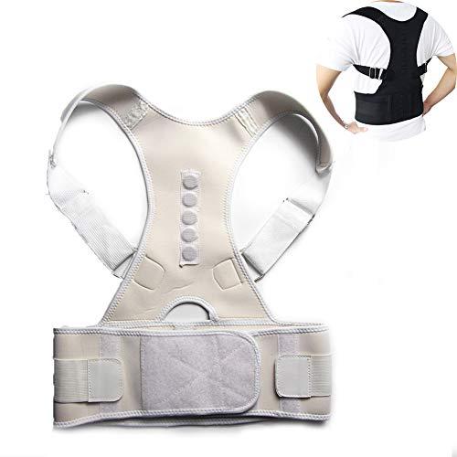 ZYFWBDZ Órtesis de Postura Masculina Femenina Soporte de Postura Órtesis de Espalda Ajustable para Mejorar la Postura y Proporcionar Soporte de Hombro Lumbar,Blanco,XL