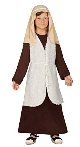 Guirca- Disfraz infantil de Hebreo pastor, Color marrn, 5-6 aos (42536.0)