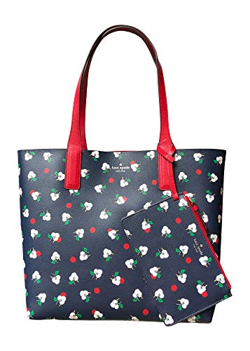 Kate Spade New York Arch Place Mya Breezy Floral Reversible Leather Tote Bag Shoulder Bag