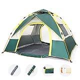 Pop up Camping Tent,HeaTal Beach Tent for 3-4 Person Hiking Fishing Backyard Beach,UV...