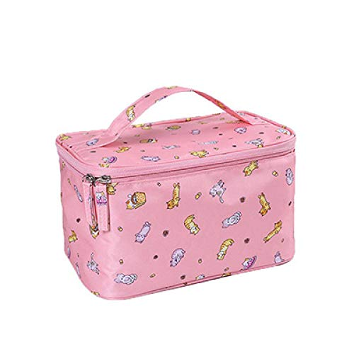 Cosmétique Sac Femmes Voyage Make Up Nécessaires Organisateur Zipper Maquillage Cas Pochette Trousse De Toilette Bags24 * 16 * 14 cm-Pink_Beckoning_Cat_24 * 16 * 14 cm