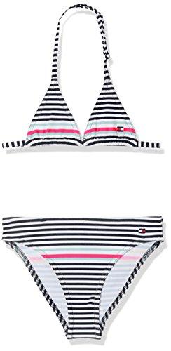 Tommy Hilfiger Mädchen Triangle Bikini Set Badebekleidungsset, Blau (Core Placed Stripe Navy Blazer 914), 164 (Herstellergröße: 14-15)