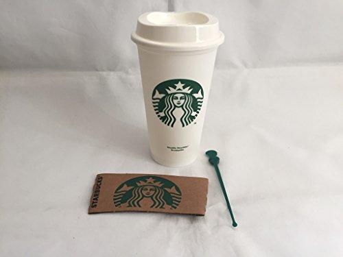 Starbucks Reisebecher, Weiß, wiederverwendbar, 473ml