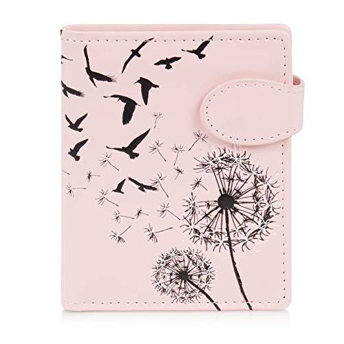 Shagwear Portemonnaie Geldbörse für Junge Damen, Mädchen Geldbeutel Portmonaise Designs: (Pusteblume Pink/Dandelion)