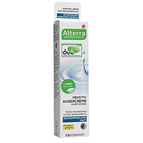 Alterra Sensitiv Augencreme Parfümfrei 15 ml für sehr empfindliche Haut, mit extra mildem Wirkstoff-Komplex, Allergiker-geeignet,zertifizierte Naturkosmetik