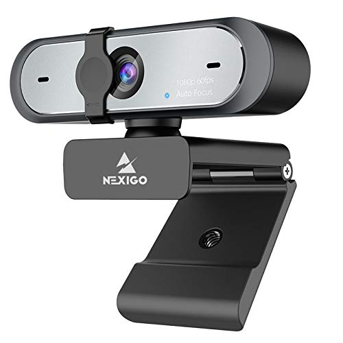 NexiGo AutoFocus 1080P 60FPS Webcam with Dual Microphone & Privacy Cover, 2021 N660P Pro HD USB Computer Web Camera, for OBS Gaming Zoom Meeting Skype FaceTime Teams