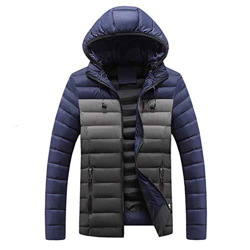 SHANGYI Winter Mantel jas met capuchon voor heren, waterdichte windbreaker, jas voor heren