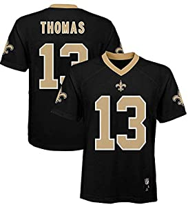 Outerstuff Michael Thomas New Orleans Saints NFL Boys Toddler 2-4 Black Home Mid-Tier Jersey (Toddler 2T)