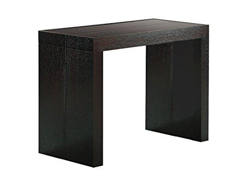 Table Console Extensible à 4 allonges (12 Couverts) Créateur - Boiserie Wengé