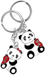 Express Panda® Llavero Pareja Panda china linda con Metal ...